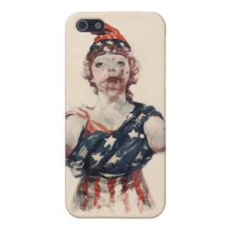 Señora Liberty del zombi iPhone 5 Protector