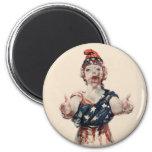 Señora Liberty del zombi Imán