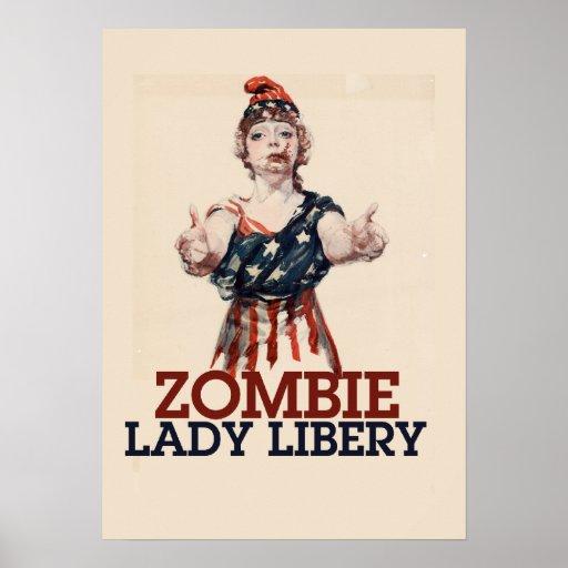 Señora Liberty del zombi Impresiones