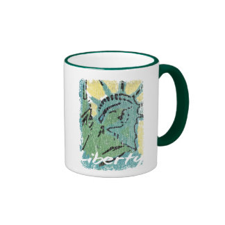 Señora Liberty Distressed Taza De Café