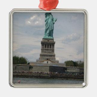 Señora Liberty en el puerto Ornamento Para Arbol De Navidad