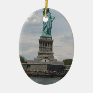 Señora Liberty en el puerto Ornaments Para Arbol De Navidad