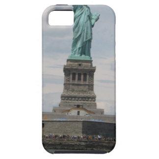 Señora Liberty en el puerto iPhone 5 Case-Mate Cárcasa