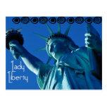 Señora Liberty - ESTATUA de la LIBERTAD Postal