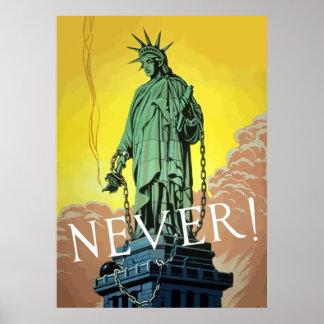 Señora Liberty In Chains -- Nunca Impresiones