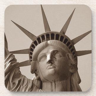 Señora Liberty Island Statue del regalo de la sepi Posavasos