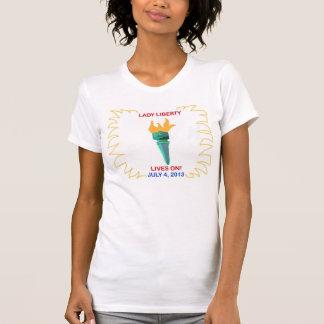 Señora Liberty Lives On Camisetas