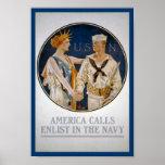 Señora Liberty Loves del KRW la marina de guerra Posters