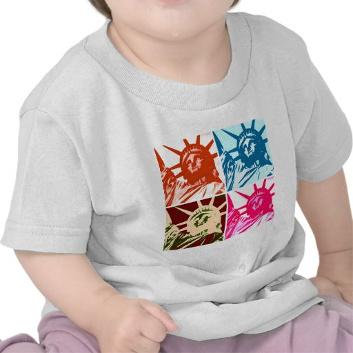 Señora Liberty New York City del arte pop Camiseta