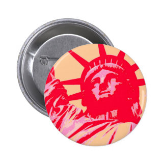 Señora Liberty New York City del arte pop Pin Redondo 5 Cm