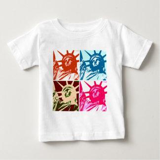 Señora Liberty New York City del arte pop T-shirts