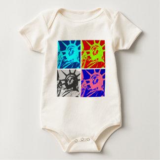 Señora Liberty New York City del arte pop Trajes De Bebé