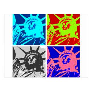 Señora Liberty New York City del arte pop Tarjeta Postal
