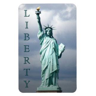 Señora Liberty, NYC Imanes De Vinilo