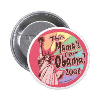 Señora Liberty Obama mamá Button Pin Redondo De 2 Pulgadas