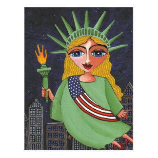 Señora Liberty - postal del vuelo
