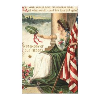 Señora Liberty Rose Soldiers de la bandera de los  Impresiones De Lienzo