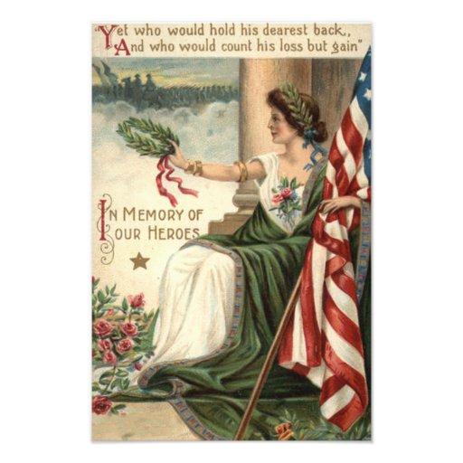 Señora Liberty Rose Soldiers de la bandera de los  Fotografia