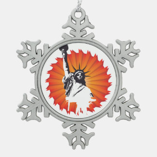 Señora Liberty Snowflake Ornament Adornos