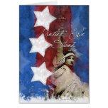 Señora Liberty, tarjeta de felicitación de la ayud