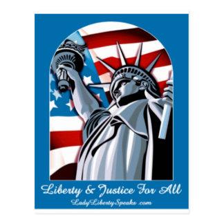 Señora Liberty Tarjetas Postales