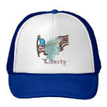 Señora Libery y casquillo de la bandera Gorro