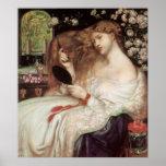 Señora Lilith, Dante Gabriel Rossetti, arte del Vi Poster