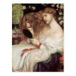 Señora Lilith, Dante Gabriel Rossetti, arte del Vi Tarjetas Postales