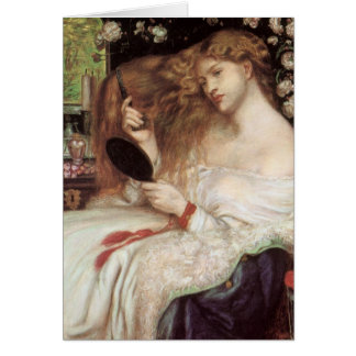 Señora Lilith por Rossetti, Victorian Portait del Tarjeta De Felicitación
