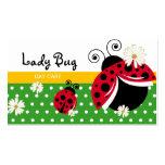 Señora linda Bug del lunar de la tarjeta de visita