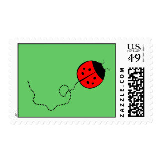 Señora linda Bug Postage Franqueo
