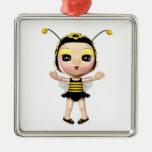 Señora linda Bumblebee Fairy Doll 2 Ornamente De Reyes