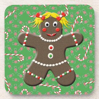 Señora linda Christmas Candy del chica del pan de Posavasos
