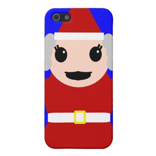 Señora linda Claus iPhone 5 Carcasas