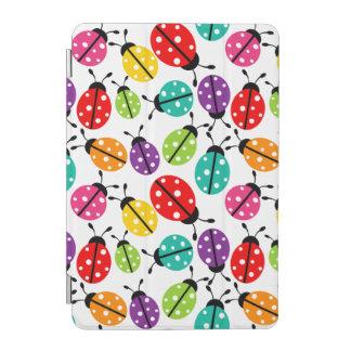 Señora linda colorida Bug Seamless Pattern Cover De iPad Mini