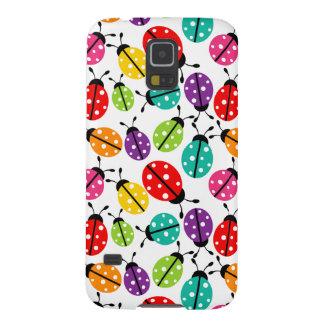 Señora linda colorida Bug Seamless Pattern Carcasa Para Galaxy S5