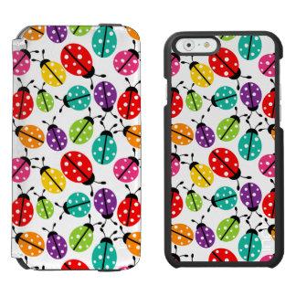 Señora linda colorida Bug Seamless Pattern Funda Billetera Para iPhone 6 Watson