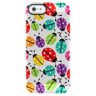 Señora linda colorida Bug Seamless Pattern Funda Clearly™ Deflector Para iPhone 5 De Uncommon