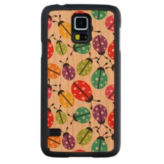 Señora linda colorida Bug Seamless Pattern Funda De Galaxy S5 Slim Cerezo