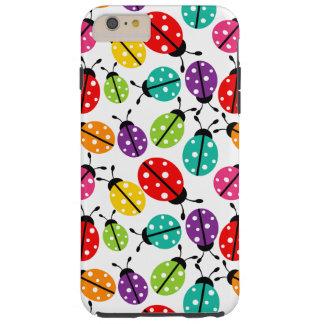 Señora linda colorida Bug Seamless Pattern Funda Para iPhone 6 Plus Tough