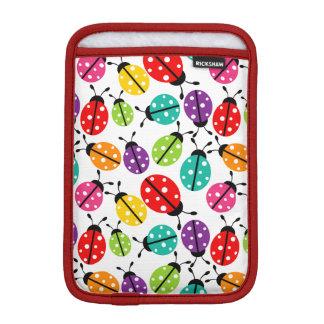 Señora linda colorida Bug Seamless Pattern Fundas Para iPad Mini
