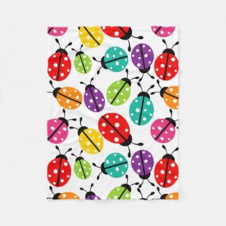 Señora linda colorida Bug Seamless Pattern Manta De Forro Polar