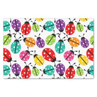 Señora linda colorida Bug Seamless Pattern Papel De Seda Pequeño
