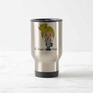 Señora linda personalizada el doctor Mug - Blonde Tazas De Café