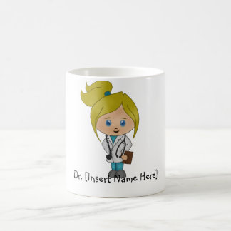 Señora linda personalizada el doctor Mug - Blonde Tazas