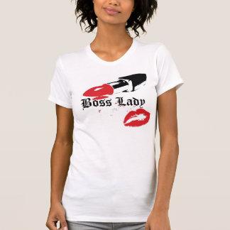 Señora Lipstick de Boss y camiseta de los labios Playeras