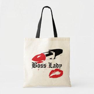 Señora Lipstick de Boss y tote del presupuesto de