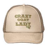 Señora loca 3 de la cabra de la camisa divertida gorras