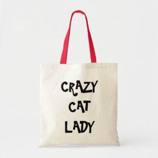 Señora loca Bag del gato Bolsa Tela Barata