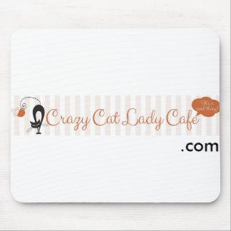 Señora loca Cafe Mousepad del gato Alfombrillas De Raton